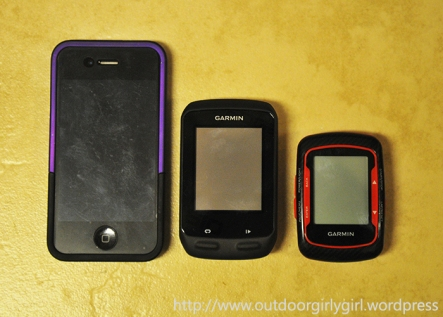 iPhone 4, Edge 510, Edge 500 size comparison