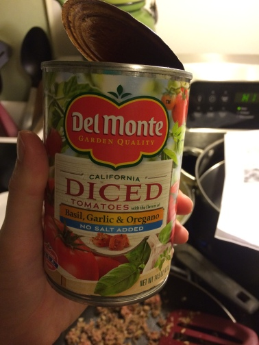 I used this kind of diced tomatoes
