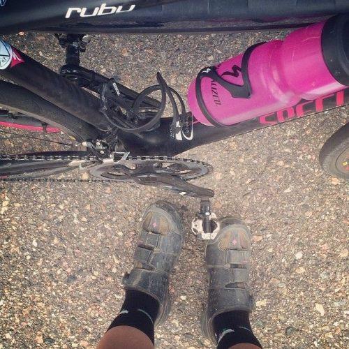 My mountain bike shoes match my road bike really really really well... Hmmmm