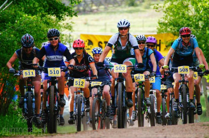 Laramie Mountain Bike Series!  Yay!  Much happy!  (Race #1/Advanced Women / Photo by Tynika Wright - T&T Photography)