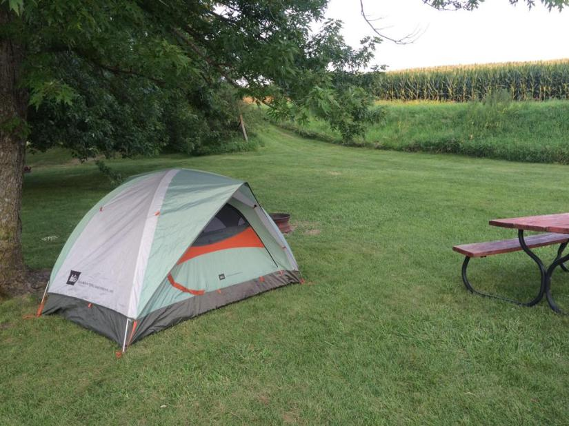 Back among the corn in Iowa! I grew to like my tent so much I wanted to set it up in my backyard and sleep out there once I was home...
