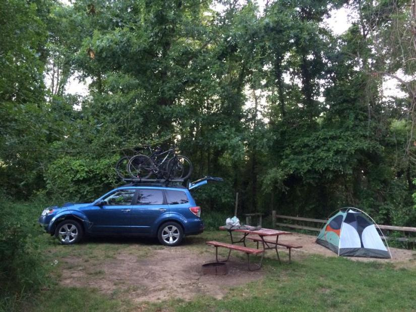 The campsite that saved me!