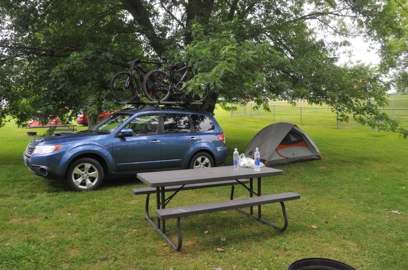 My campsite at the KOA in Adel, IA