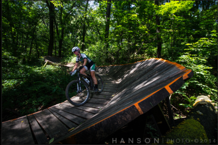 Nope, skipped riding the wall!  (Photo by Hanson Photography)