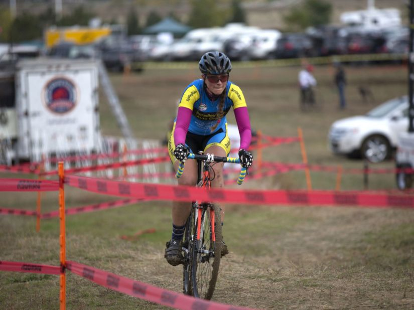 """Hammering on the rarely seen """"B"""" bike! (Photo by Erin Hooley / The Coloradoan)"""