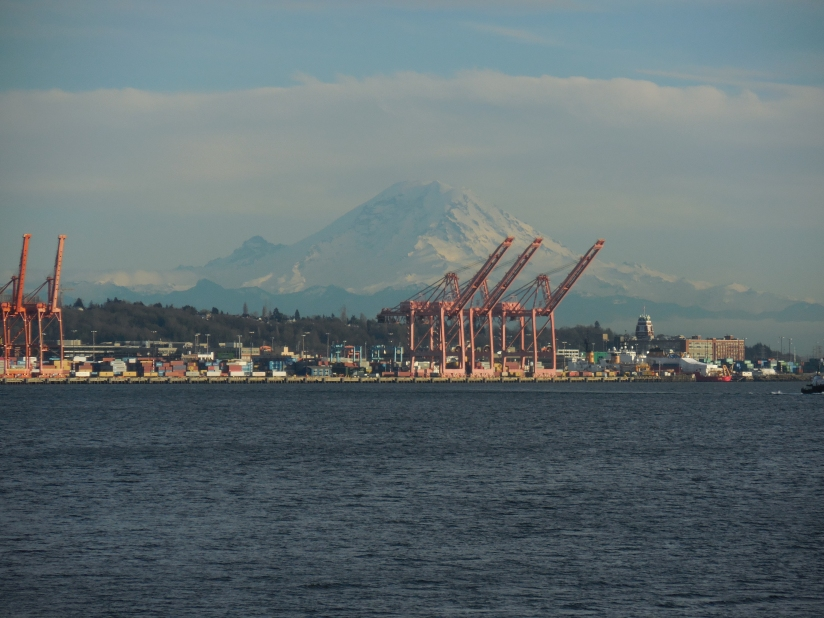 Mt. Rainier... the only day it was really clear enough to see it well!
