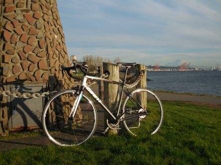 Volcano and a road bike :)
