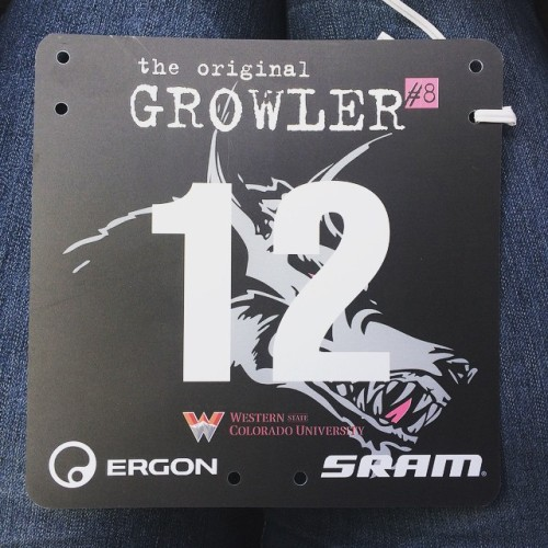 Such a low bib number... so pro, but not pro :D  Gunnison Half Growler - May 23, 2015