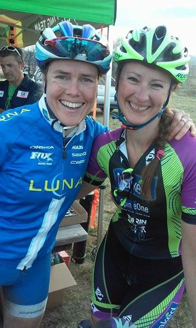 Having way too much fun with this lovely lady both during and after the race!