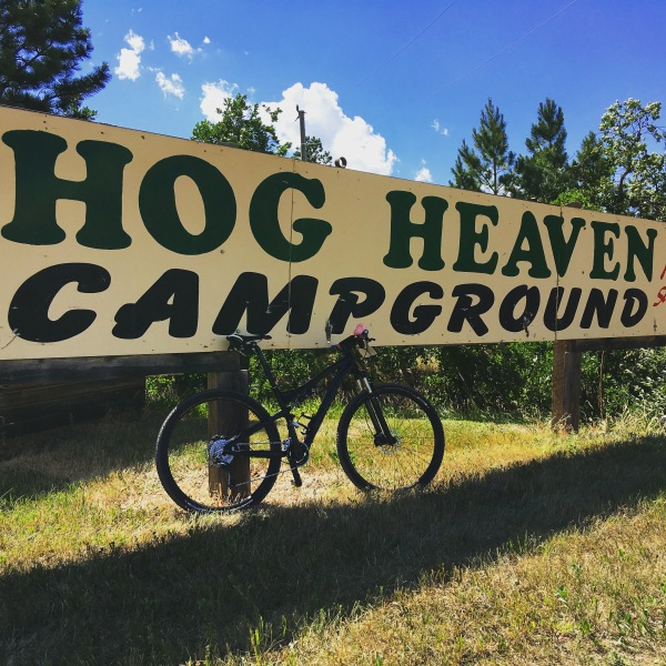 Hog Heaven Campground is normally only open for the Sturgis motorcycle rally... but they let Tatanka racers stay there!